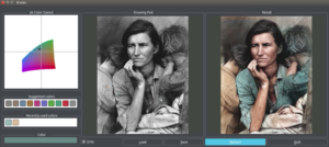 Black and White into Color with AI