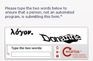 an example of CAPTCHA